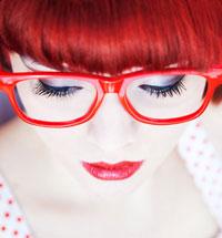 lunette rouge