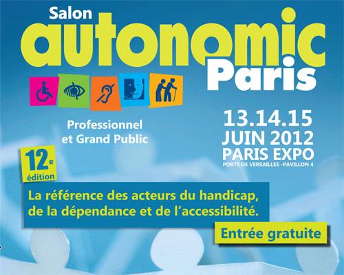 affiche autonomic paris 2012