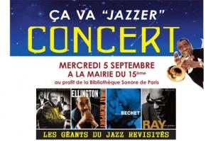 concert de jazz pour la bibliothèque sonore de Paris