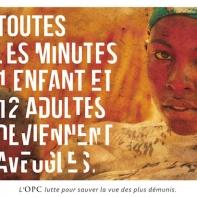 affiche OPC noël sauver la vue des démunies