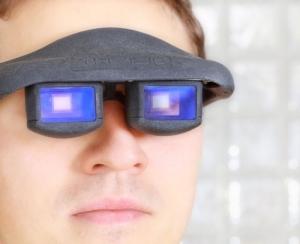 des lunettes controlées par le mouvement des yeux