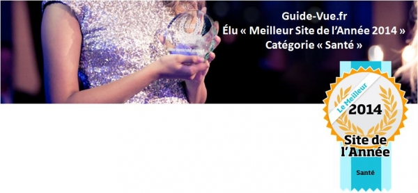 guide-vue Meilleur Site de l'année 2014 Santé